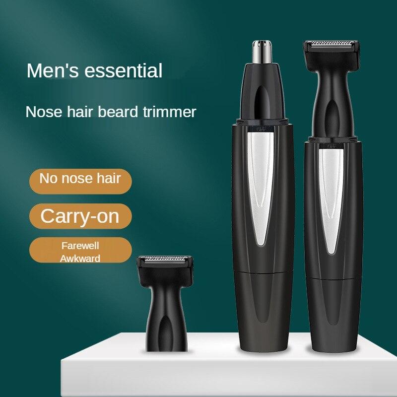 Перезаряжаемый триммер для волос в носу, электрическая машинка для стрижки, бритва, триммер, эпиляторы, высокое качество, экологически чист...