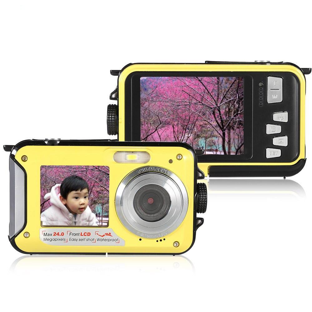 Amkov W599 24MP 2.7 Inch Double Screen Waterproof Anti Shake 16X Zoom 1920x1080 HD Camera enlarge