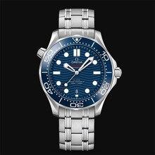 Oméga-luxe marque céramique lunette hommes AAA mécanique SS 007 mouvement automatique hommes montre montres de créateur montres 33 commande