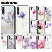 Watercolor flower Dandelion Lotus Lavender Drawing Phone Case For Huawei Honor 8 8x 9 10 20lite view