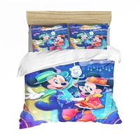 100% Polyester Mickey Minnie Bedding Set Queen King Size Bedding Set Children Duvet Cover Pillow Cases Comforter Bedding Sets
