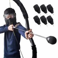 1pc soft sponge arrows foam shooting arrowhead game practice broadhead tips security for archery bow cs shooting combat game