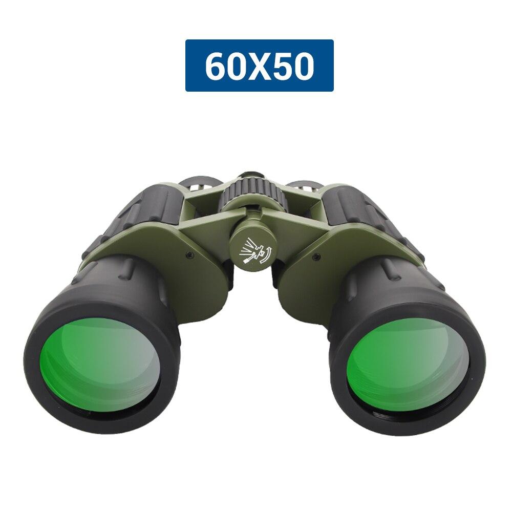60x50 zoom dia/noite militar do exército poderoso binóculos óptica caça acampamento de alta potência hd telescópio handheld óptica binocular