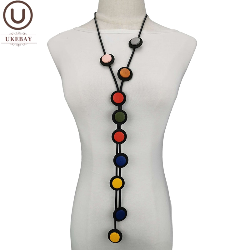 aliexpress.com - UKEBAY New Long Pendant Necklaces For Women Gothic Necklace Rubber Jewelry Designer Handmade Ethnic Chain Clothes Big Jewellery