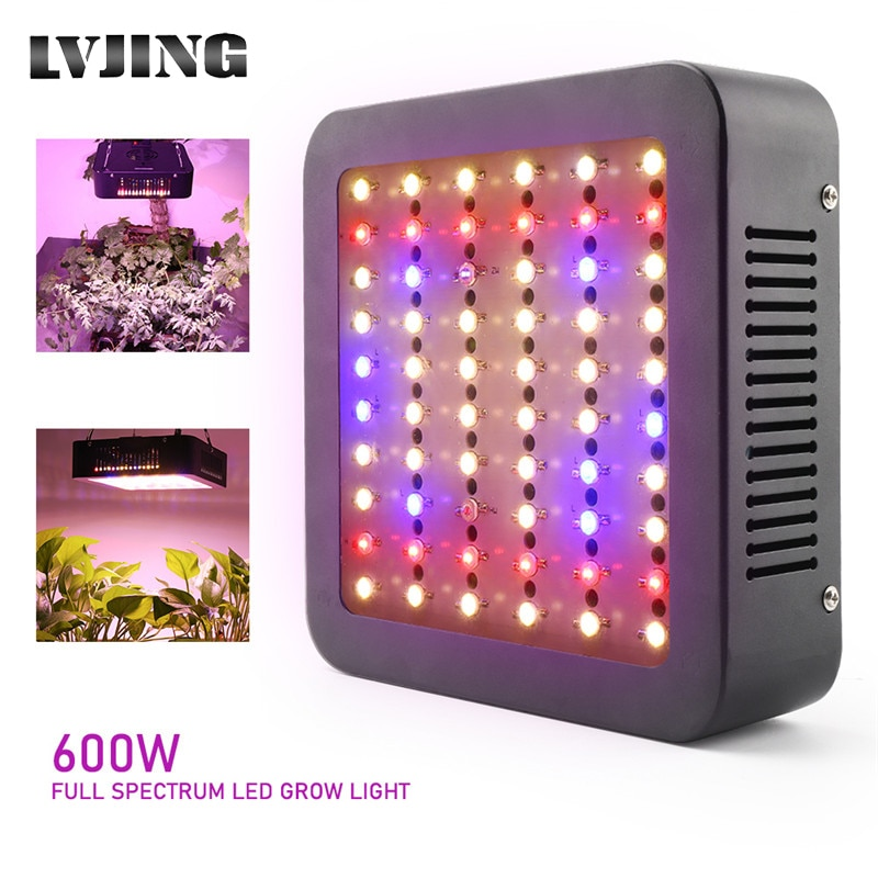 new 2 heads led grow light dual head 18w plant grow lamp led fitolampy with double on off switch for hydroponics grow system 600W Full Spectrum LED Plant Grow Light Lamp For Plant Indoor Nursery Flower Fruit Veg Hydroponics Grow Tent Dual Chip Fitolampy