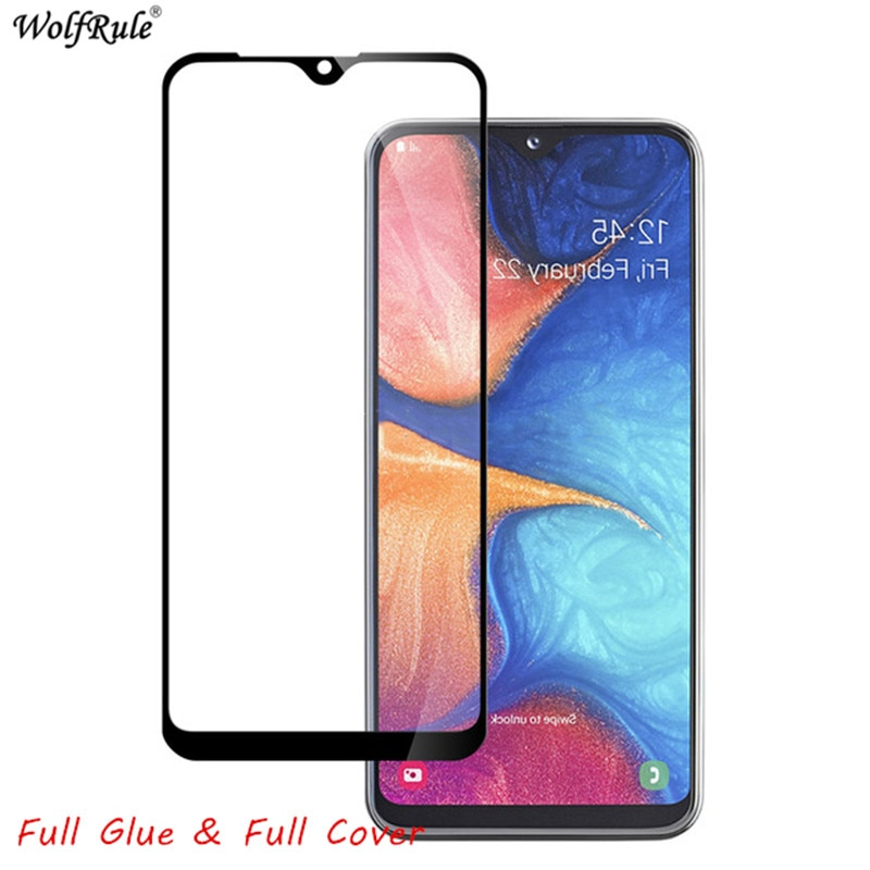 2pcs LCD Screen Protector For Samsung Galaxy A20S Full Glue Glass For Samsung A20s Full Cover Tempered Glass SM-A207F 6.5