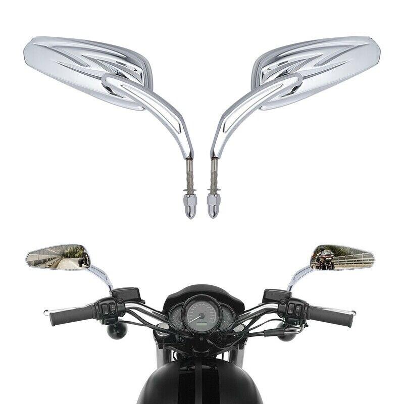8mm Rear View Mirrors For Harley Road King Electra Street Glide Street Bob Sportster Softail FLS XL 883 1200 FLSTFB FXDF FLSTF