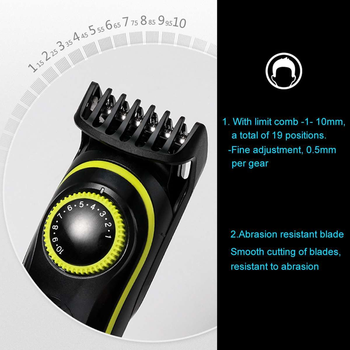 Kemei Electric Shaver facial body shaving machine hair clipper Trimmer For Men Beard Razor grooming set nose and ear trimmer enlarge