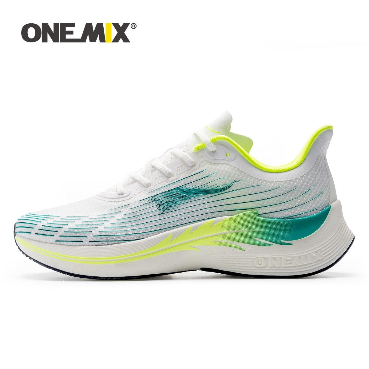 ONEMIX 2021 حذاء رياضي الرجال تنفس لوحة احذية الجري البرية عادية لينة الاتجاه الجديد أحذية مشي للذكور في الهواء الطلق أحذية رياضية
