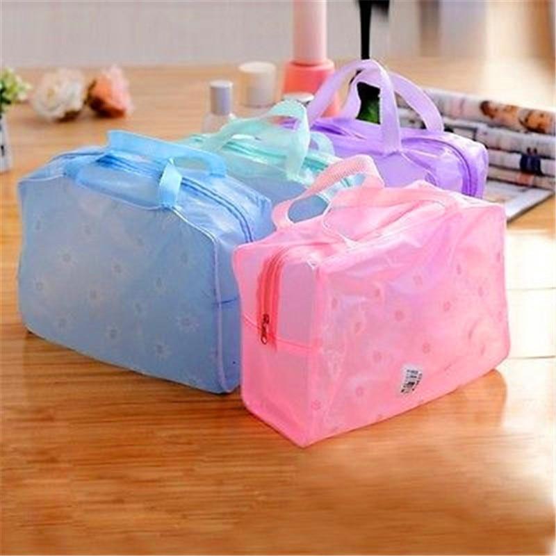 De viaje portátil impermeable cosmético bolso bolsa de lavado bolsas de maquillaje de viaje neceser lavar cepillo de dientes косметичка # D