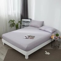 mattress cover solid mattress protector with elastic band sanding breathable bed mattress cover anti mite washable