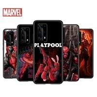 soft tpu cover fashion marvel deadpool for huawei p40 p30 p20 pro p10 p9 p8 lite ru e mini plus 2019 2017 black phone case