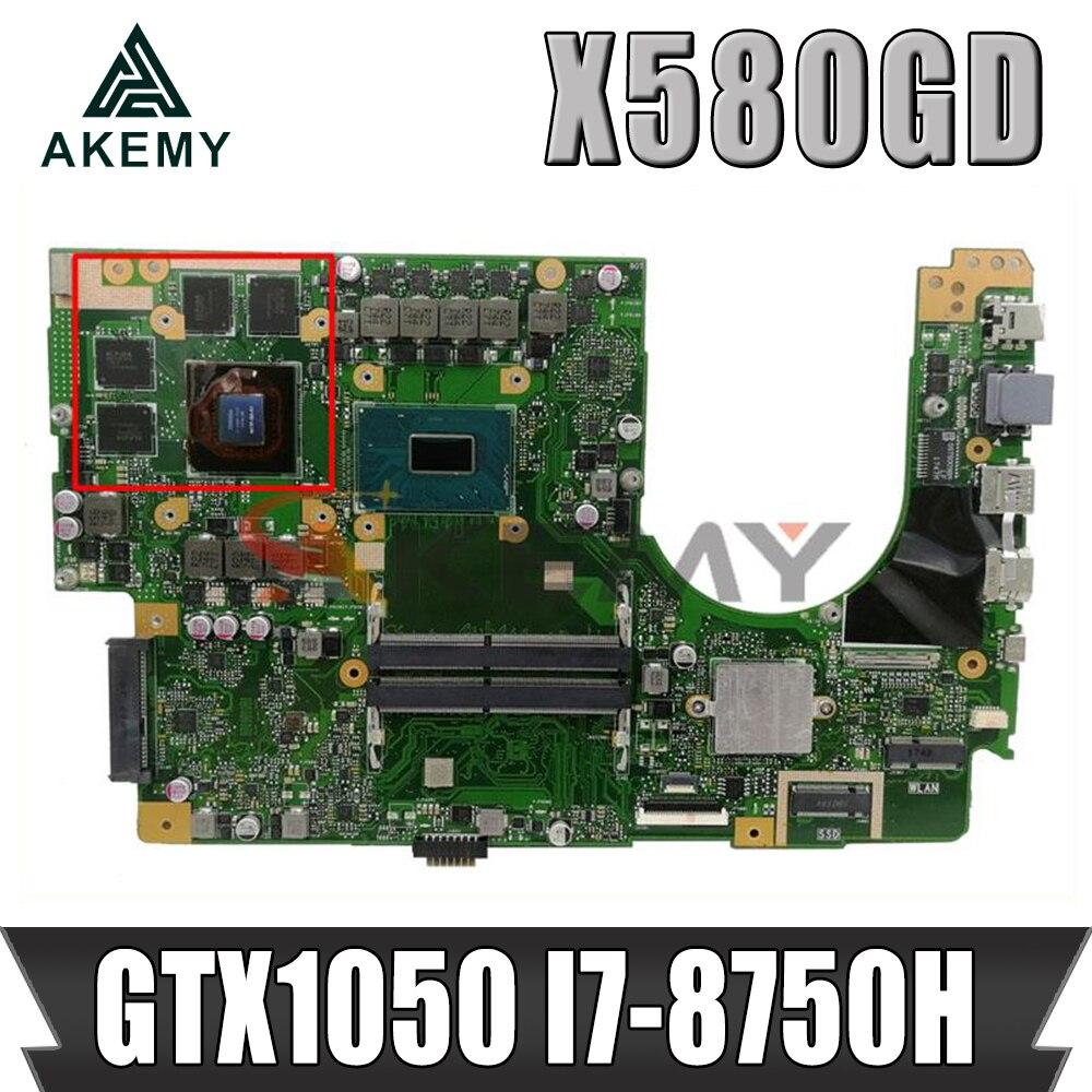X580 gd اللوحة الأم لشركة آسوس VivoBook برو 15 n580 g n580 gd nx580 g nx580 gd اللوحة الأم للكمبيوتر المحمول اللوحة الرئيسية مع/GTX1050/4GB I7-8750H