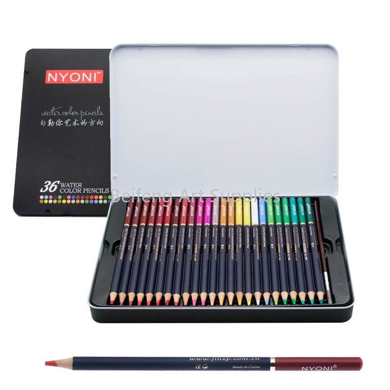24/36/48/72/100 color profession drawing pencils set water-soluble color pencil set gift box hand-painted learning supplie