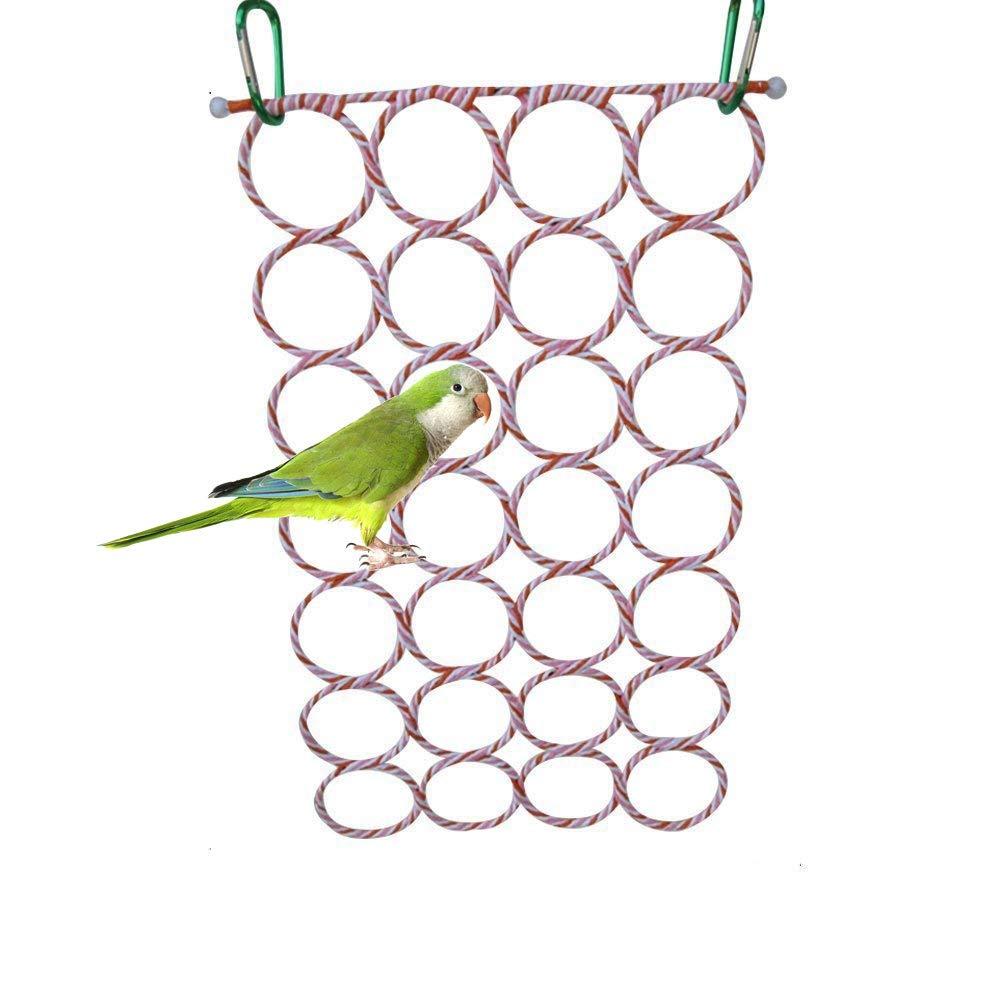 Columpio para aves jaula de loro juguetes columpio para grises periquito cacatúa Conure tortolitos Canarias poco guacamayo Africana loro