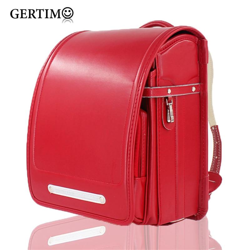 Japanese School Bags Child Randoseru Fashion Schoolbags for Boy and Girls Japanese Student BookBag  Primary Children Backpacks