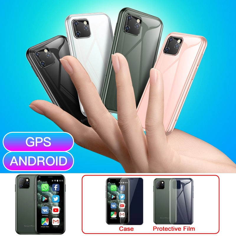 SOYES XS11 هاتف ذكي صغير بمساحة 1 جيجا بايت + 8 جيجا بايت 2.5 بوصة هواتف محمولة صغيرة واي فاي رباعية النواة مع نظام تحديد المواقع 2.0ميغا بيكسل هاتف أند...