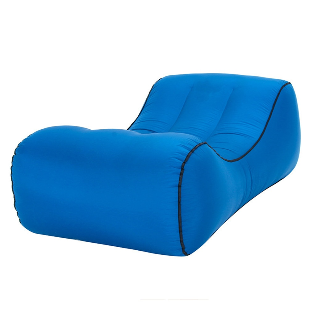 Floating Sleeping Inflatable Sofa Air Bed Portable Nylon Navy Blue Easy Carry Space Saving Floating Seaside Chair