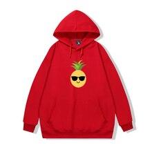 Sunglasses Pineapple Graphic Cool Sweatshirt Men Thin Cotton Hip Hop Ulzzang Long Sleeve Pullover Ho