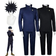 Jujutsu Kaisen Anime Fushiguro Megumi, disfraces de Cosplay, pantalones superiores, conjunto de uniforme para fiesta de Halloween