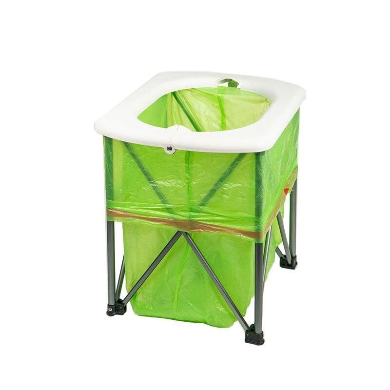 ¡Novedad! inodoro plegable multifuncional para acampar, asiento de ocio al aire libre, inodoro ultraligero portátil