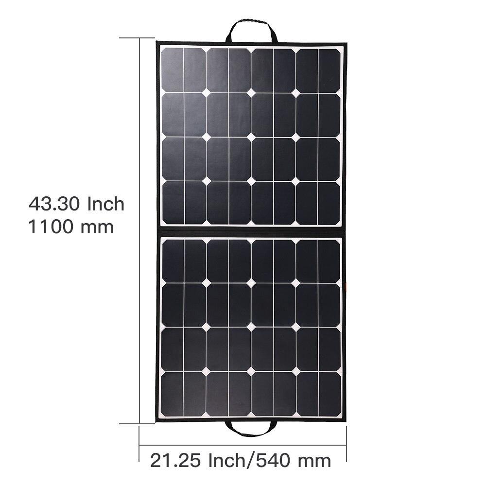الشركة المصنعة Sunpower لوحة طاقة شمسية 100 واط شاحن الصين لأجهزة الكمبيوتر المحمول/السفر بطارية كبيرة/التخييم