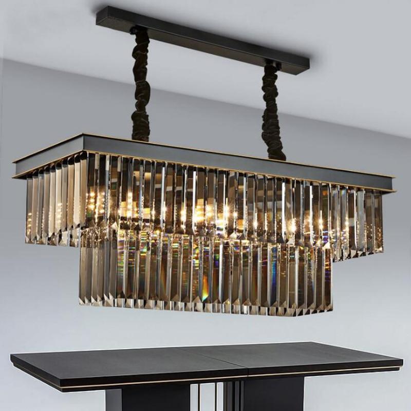 Lámpara de araña de comedor Rectangular, creativa, con personalidad, moderna, para comedor y Bar