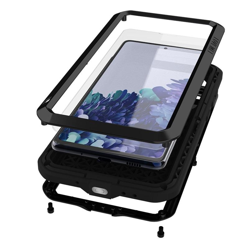 جراب درع معدني قوي أصلي 360 درجة لهاتف Samsung Galaxy S20 FE S10 S9 S8 Plus Note 8 9 10 Lite 20 Ultra Pro 5G