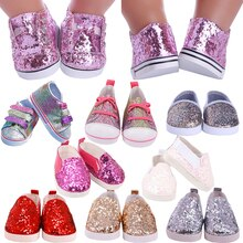 7 cm Doll Shoes For 43 cm Born Baby Clothes Items Accessories & 18 Inch American Doll Girl Toy & Nen