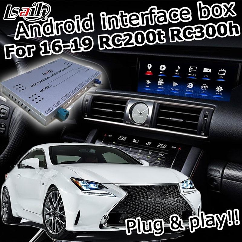 Android / carplay навигационная коробка для Lexus RCF RC300h RC200t RC300 2013-2019 видео интерфейс 7/10,25 ручка сенсорного управления lsailt