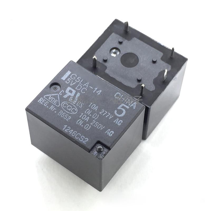 New  10pcs/lot relay  G5LA-14-5V G5LA-14-5VDC G5LA-14-DC5V  G5LA-14  5VDC 10A  5Pin