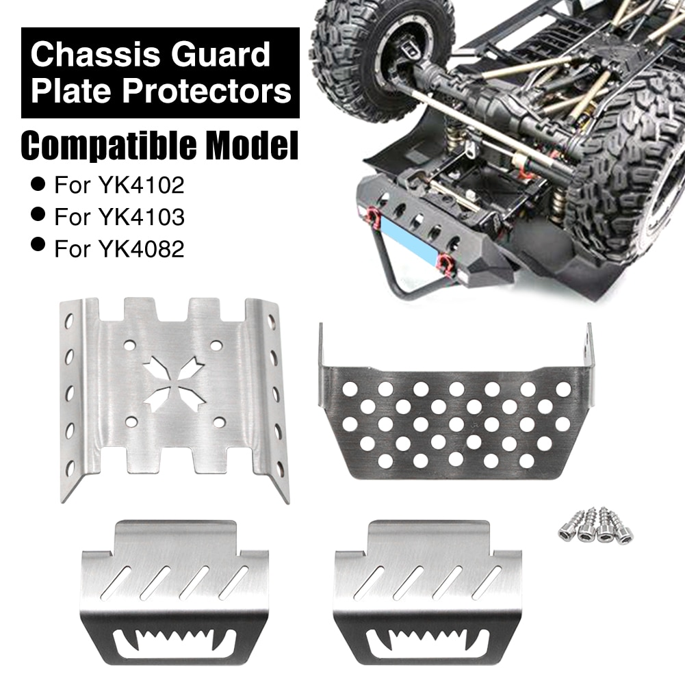 2021 new arrival Metal Chassis Armor Axle Protector Plate for 1/10 YK4102 YK4103 1/8 YK4082 YiKong R