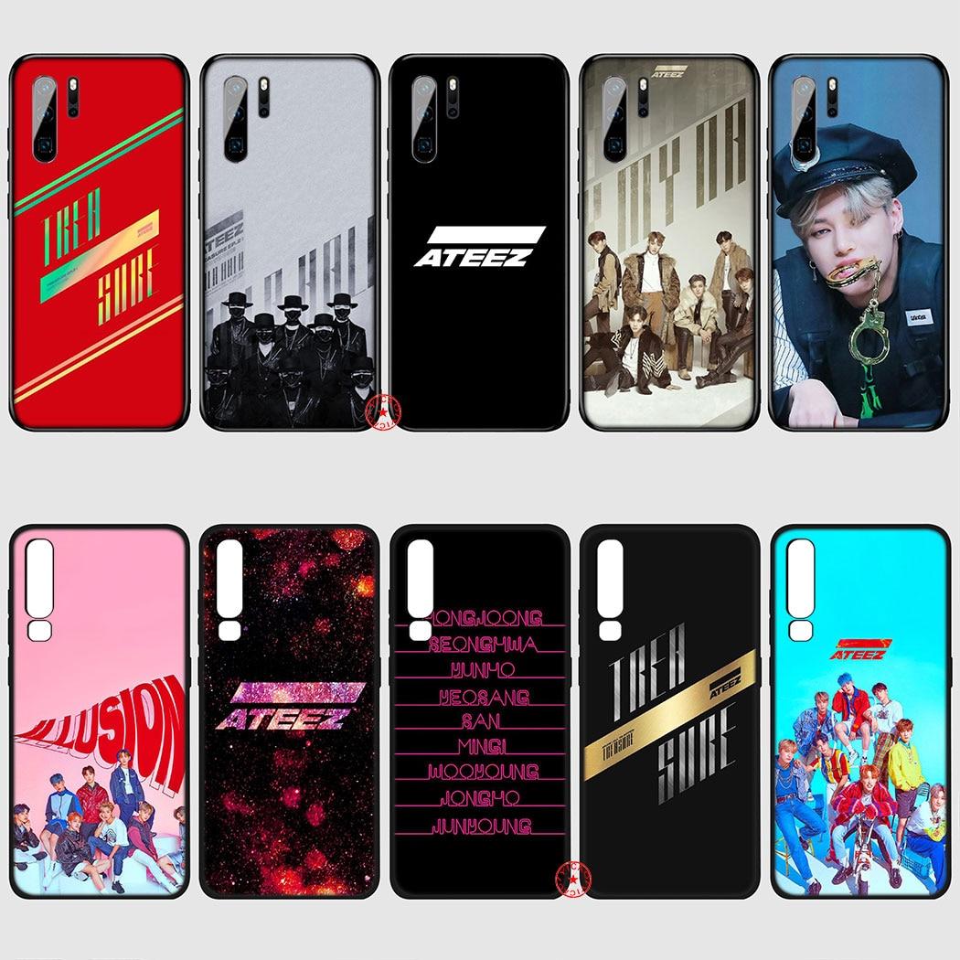 Ateez kpop quente macio silicone caso de telefone para huawei p smart plus z p30 p20 p10 p9 lite pro mini tpu capa