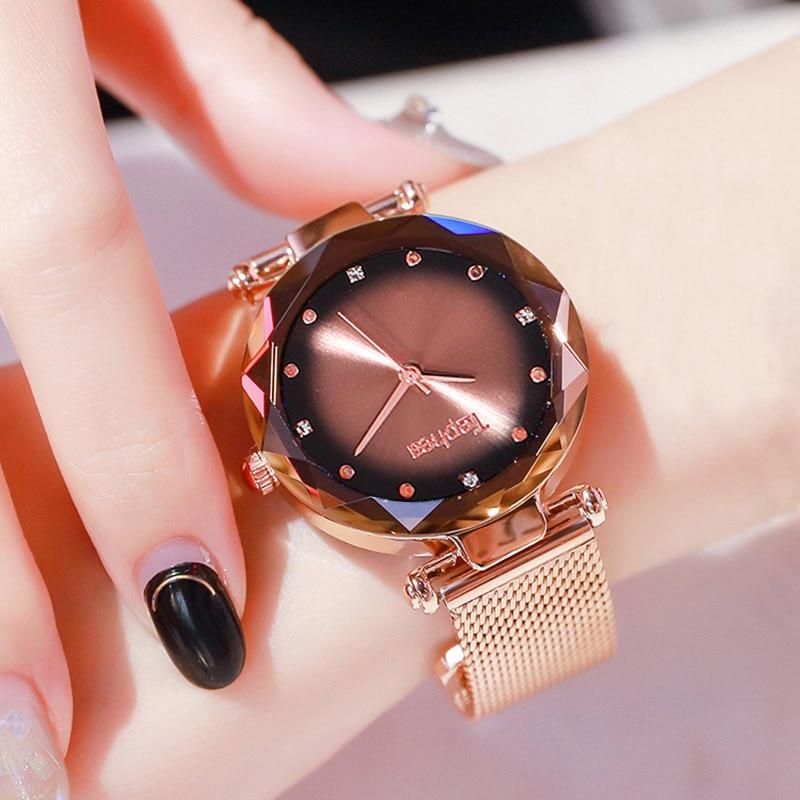 Rose Gold Fashion Casual Quartz Watches for Women 2019 New Brand Mesh Stainless Steel Dress Women Watches Relogio Feminino Cloc