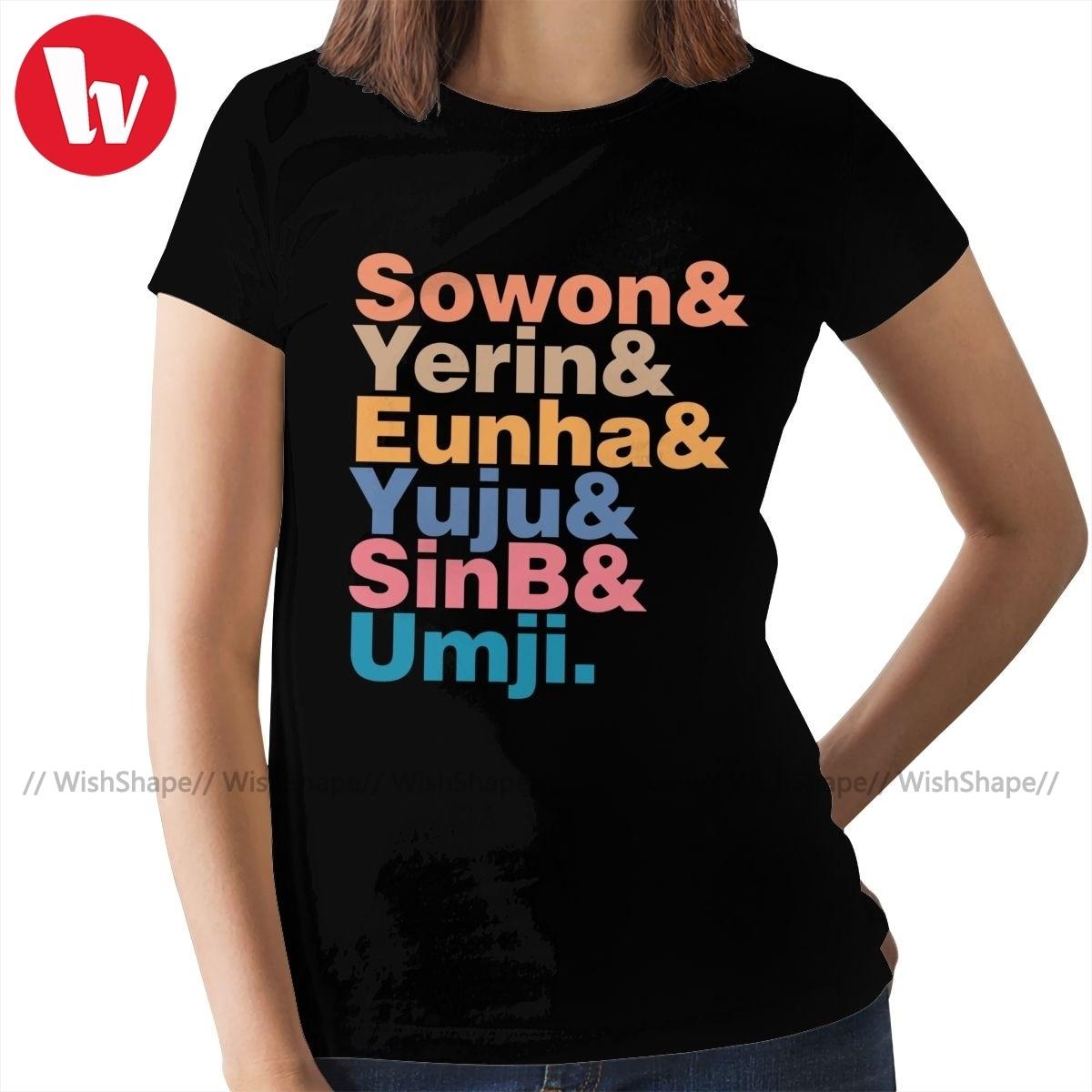 Camiseta Gfriend Kpop, camiseta GFRIEND In Helvetica, camiseta roja de manga corta para mujer, Camiseta de cuello redondo para mujer
