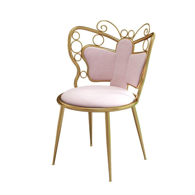الأصلي ماكياج البراز الشمال غرفة نوم الحديثة الحد الأدنى ضوء فاخر خلع الملابس كرسي مسند الظهر الأميرة كرسي قابل للطيّ أنثى