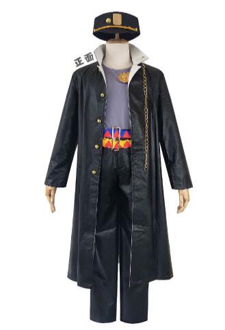 6PCS Anime JOJO JoJo's Bizarre Adventure Kujo Jotaro women Cosplay Costume Halloween men Cosplay Costume and wig Send ha