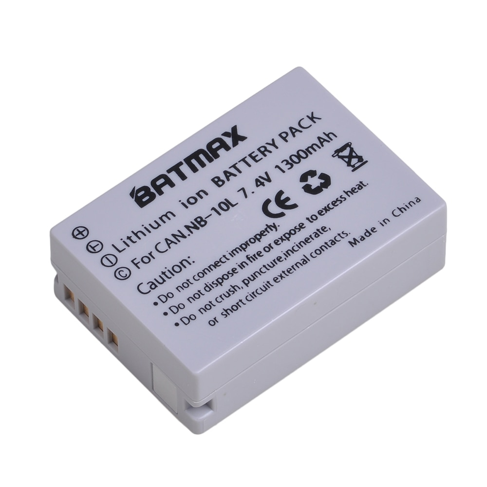 Batmax 1pc NB-10L NB10L NB 10L Cámara batería para CANON PowerShot SX40 HS SX40HS SX50 HS SX50HS G1 X G1X G15 G16 SX60 HS G3X