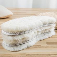 1 Pair Natural Sheepskin Insoles Winter Real Fur Wool insoles Men Women Warm Soft Thick warm Cashmer