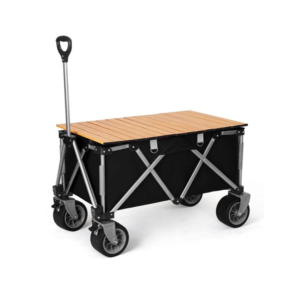 Table Top Outdoor Camping Beach Cart Removable Canopy & Universal Wide Wheels & Adjustable Handle Double Kids Stroller