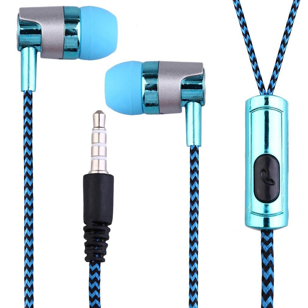 KY-38 profesional 200Hz-20000KHz 32 ohm línea de tela de Color sonido de graves pesados en el oído auriculares de música Auriculares auriculares universales para teléfono móvil