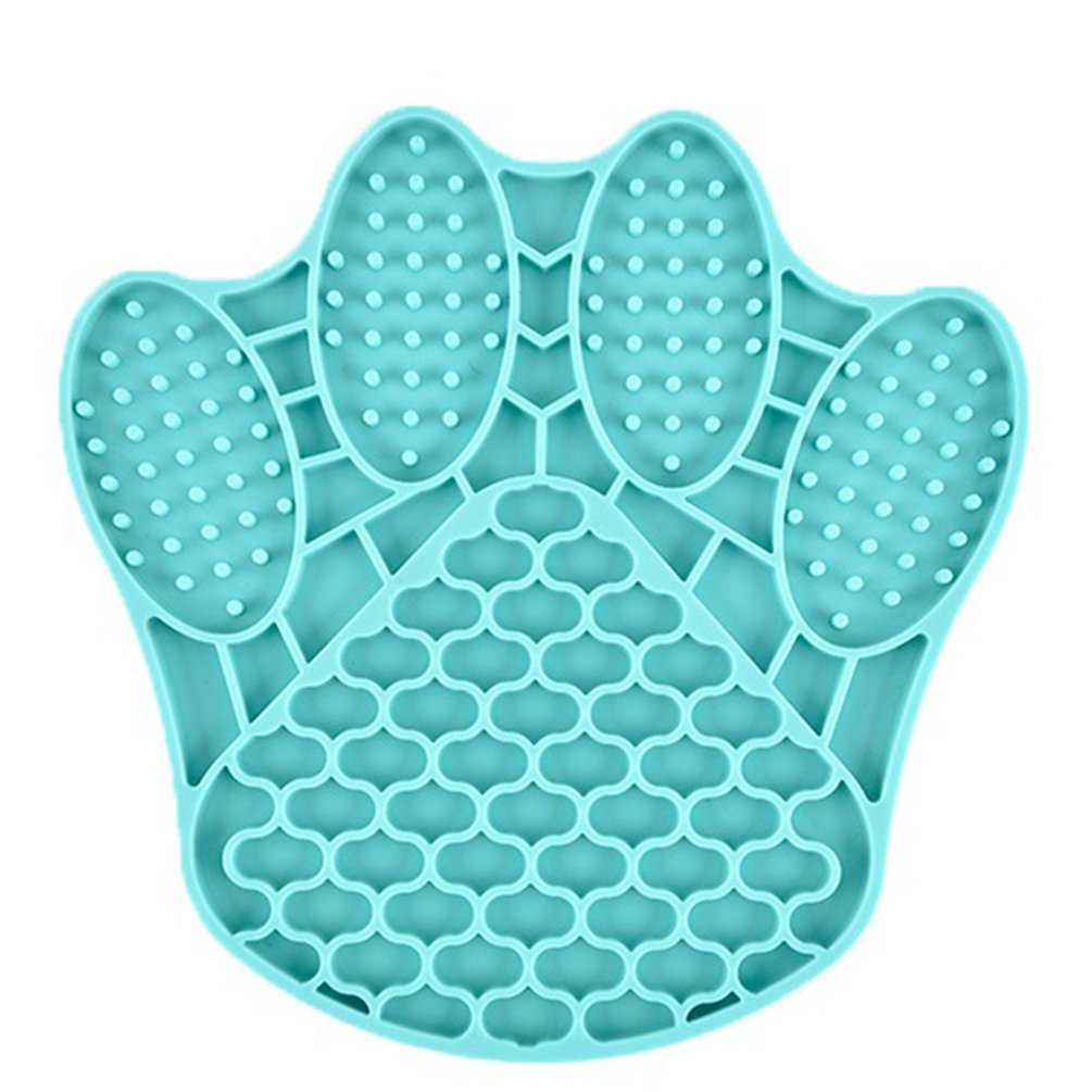 Silicone Claw-Shaped Pet Bowl Dogs Cats Slow Food Mat Dispensing Feed Plate Lick Pad Bite-Resistant No-Toxic Bowls Pet Supplies
