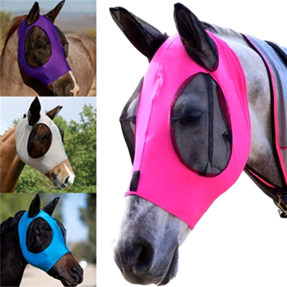 Breathable Anti-mosquito Lightweight Comfortable Horse Head Face Cover with Ear