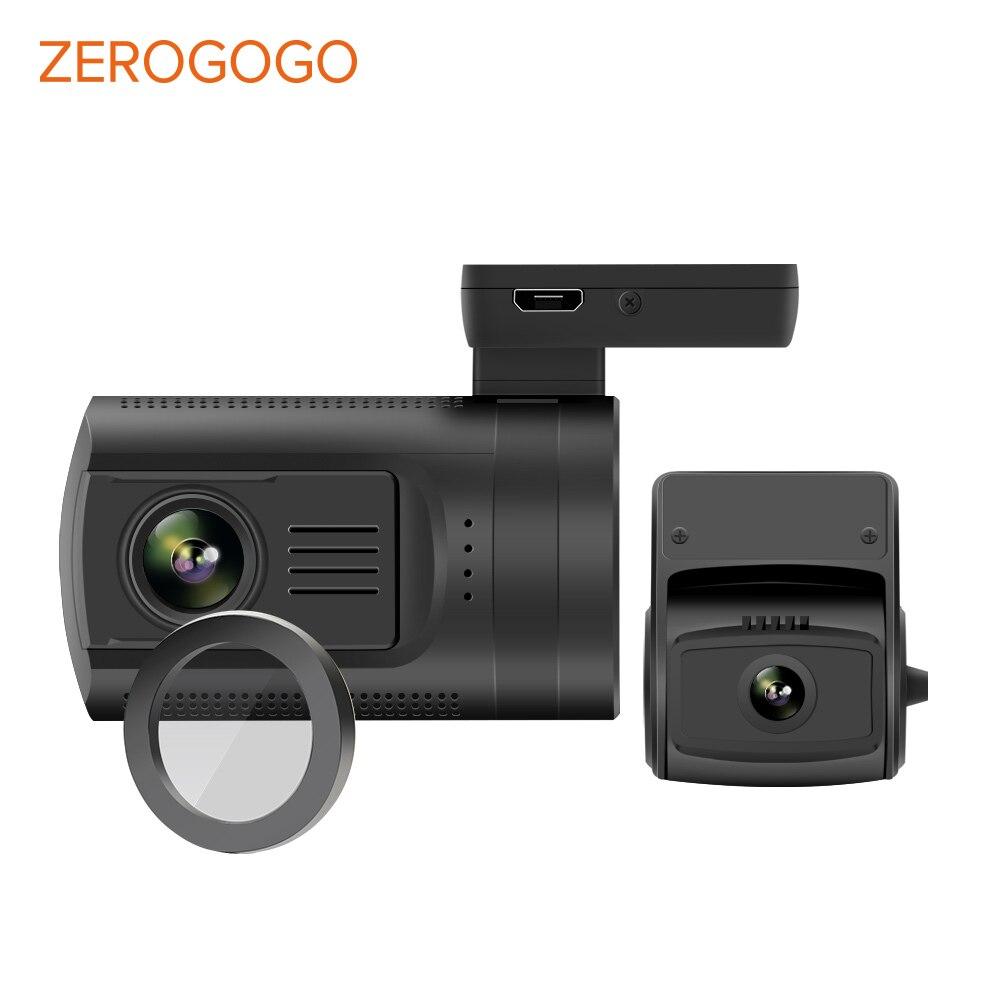 ZEROGOGO 0906 Mini DVR de coche Dual de la Lente de la Cámara de salpicadero era GPS Cámara Dual 1080P Full HD cámara de salpicadero Novatek 96663 Dashcam CPL