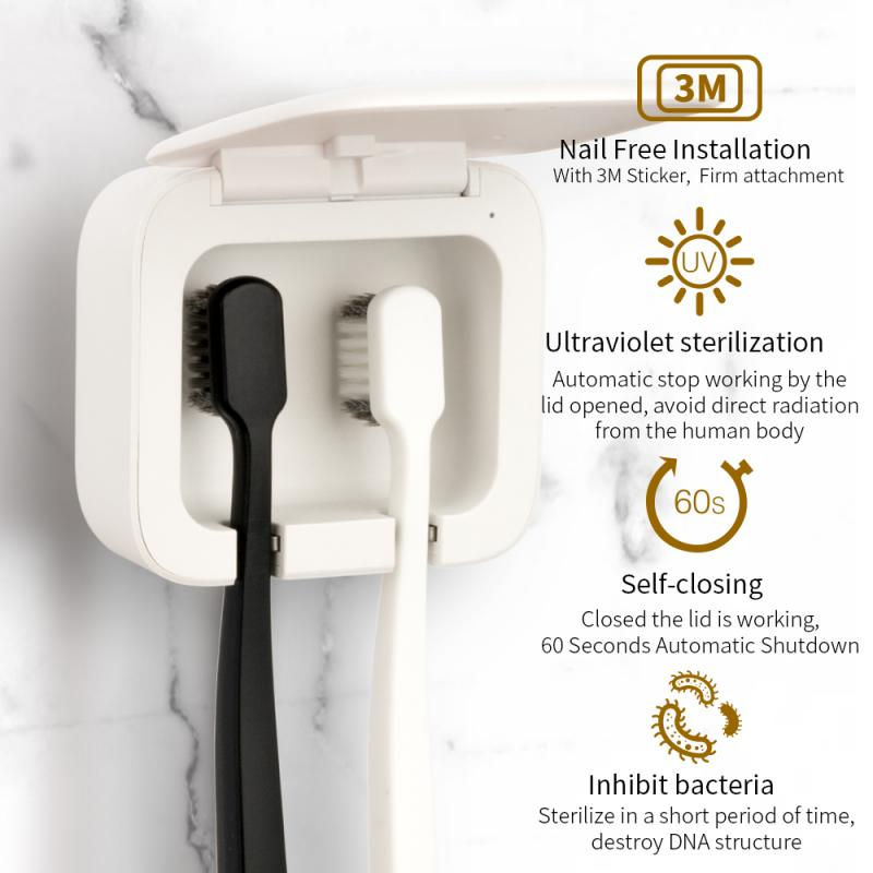 UV Light Toothbrush Holder Sterilizer Box Smart Induction Oral Hygiene Ultraviolet Cleaner For Personal Caring Teeth USB