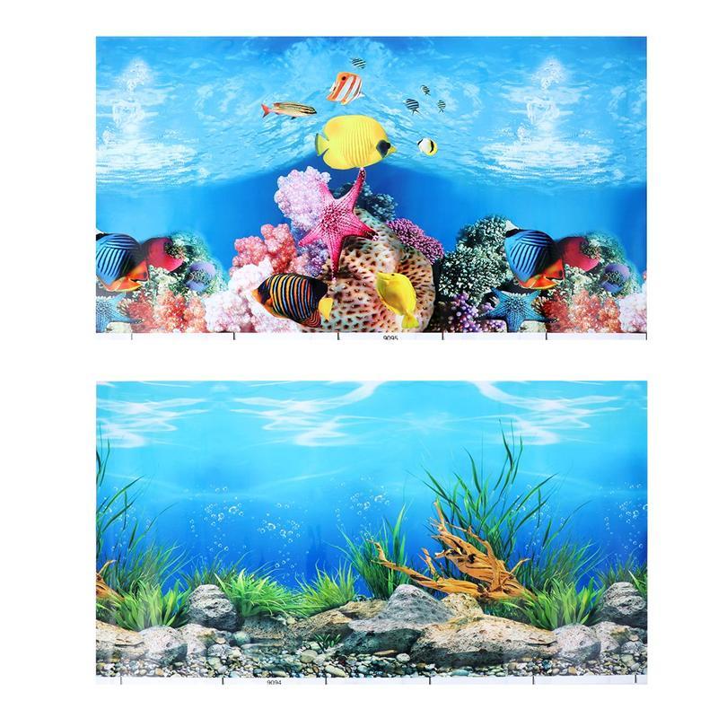 Fondo para tanque de peces de acuario adhesivo 3D papel pintado de doble cara peces tanque fotos decorativas fondo submarino imagen Decoración