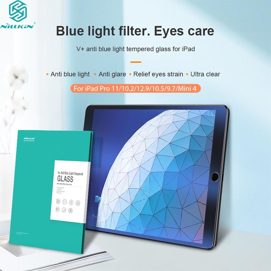 Protector de filtro para iPad Pro 12,9 cristal Nillkin antideslumbrante azul claro para iPad Pro 10,5/11 para iPad Mini 4 para iPad 9,7/10,2