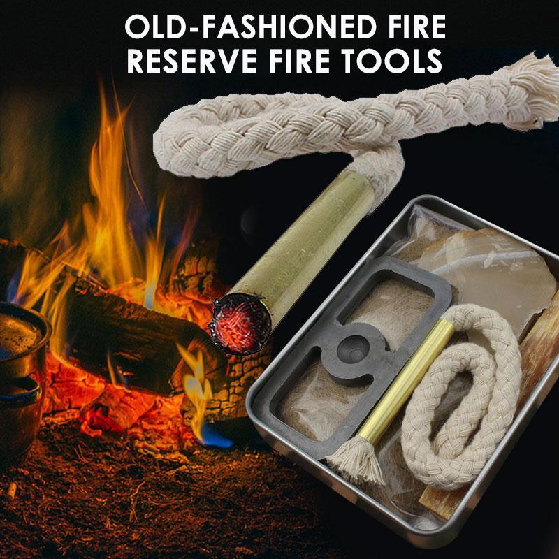 Набор инструментов для выживания, прочный, 7 шт., инструмент для серебра, для кемпинга, с бантом, сверло, кремниевый камень, для улицы, примити...