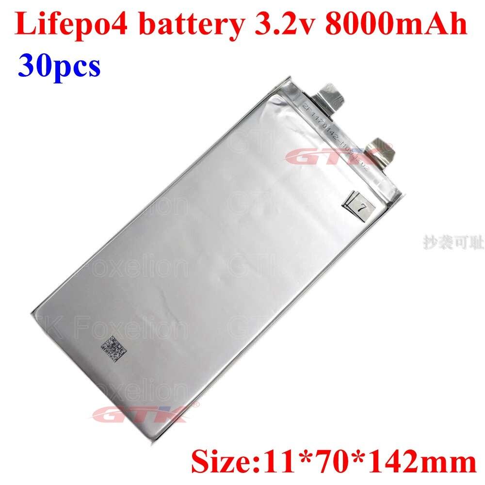 ¡Gran venta! 30 Uds 3,2 v 8000mah lifepo4 3,2 v 8ah batería 20A para coche de juguete ebike diy bateria bici 24v 8ah herramientas eléctricas