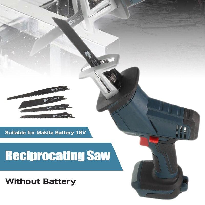 500W scie électrique scie à métaux alternative coupe bois outil Portable coupe bois sans batterie pour Makita batterie 18V